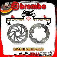 BRDISC-2029 KIT DISCHI FRENO BREMBO PIAGGIO X10 EXECUTIVE ABS 2012- 350CC [ANTERIORE+POSTERIORE] [FISSO/FISSO]