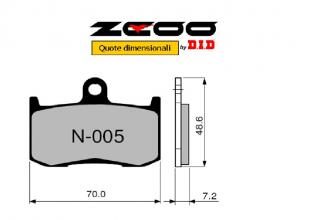 45N00501 PASTIGLIE FRENO ZCOO (N005 EX C) KAWASAKI Z 800 ABS BDS - ADS - E ABS DDS (ZR800) 2013- (ANTERIORE)