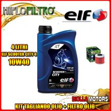 KIT TAGLIANDO 4LT OLIO ELF CITY 10W40 HONDA SXS1000 Pioneer 1000 M3 2nd Oil 1000CC 2016- + FILTRO OLIO HF117