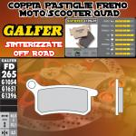 FD265G1396 PASTIGLIE FRENO GALFER SINTERIZZATE POSTERIORI KTM 105 SX (USA) 04-06