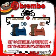 BRPADS-18892 KIT PASTIGLIE FRENO BREMBO MALANCA GTI 1970- 80CC [CC+SD] ANT + POST