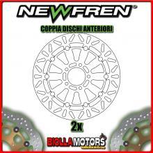 2-DF5201AF COPPIA DISCHI FRENO ANTERIORE NEWFREN SUZUKI GSX-R 750cc 1988-1992 FLOTTANTE