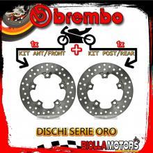 BRDISC-2138 KIT DISCHI FRENO BREMBO SYM HD 2 2010- 125CC [ANTERIORE+POSTERIORE] [FISSO/FISSO]