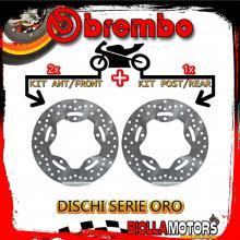 BRDISC-2155 KIT DISCHI FRENO BREMBO SYM MAXSYM ABS 2012- 400CC [ANTERIORE+POSTERIORE] [FISSO/FISSO]