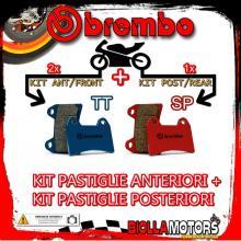 BRPADS-48133 KIT PASTIGLIE FRENO BREMBO HONDA XL V TRANSALP 1997-1999 600CC [TT+SP] ANT + POST