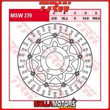 MSW279 DISCO FRENO ANTERIORE TRW Triumph 955 SpeedTriple 2002-2004 [FLOTTANTE - ]