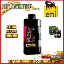 KIT TAGLIANDO 4LT OLIO ENI I-RIDE 10W60 TOP SYNTHETIC MV AGUSTA MV Agusta Brutale 1078RR 1078CC 2009- + FILTRO OLIO HF204