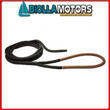3101926 DOCK LINE BLACK D24 L20 EYE75 BROWN Custom Dock Line Nera con Gassa
