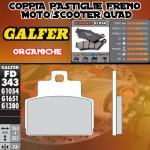 FD343G1054 PASTIGLIE FRENO GALFER ORGANICHE POSTERIORI PIAGGIO VESPA GTS 300 i.e. SUPER 09-