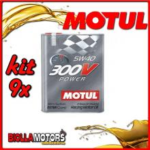KIT 9X 2 LITRO OLIO MOTUL 300V POWER 5W40 100% SINTETICO PER AUTO - 9x 104242