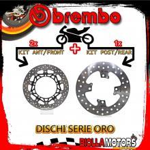 BRDISC-4624 KIT DISCHI FRENO BREMBO TRIUMPH SPEED TRIPLE ABS 2009- 1050CC [ANTERIORE+POSTERIORE] [FLOTTANTE/FISSO]