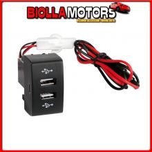 97961 LAMPA ORIGINAL-FIT, DOPPIA PRESA USB, 12/24V - IVECO