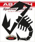 21581 ADESIVO ABARTH PREFUSTELLATI HQ SCORPIONE NERO 160MM