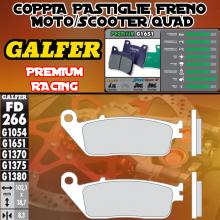 FD266G1651 PASTIGLIE FRENO GALFER PREMIUM ANTERIORI YAMAHA WR 125 R 09-