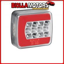 41525 LAMPA C-LED LOOK, FANALE POSTERIORE LED 4 FUNZIONI, 12/24V - DESTRO