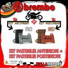 BRPADS-22007 KIT PASTIGLIE FRENO BREMBO KTM DUKE 2003- 950CC [RC+SD] ANT + POST