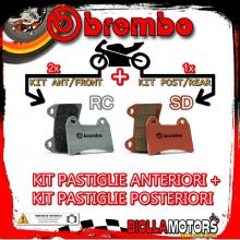 BRPADS-22008 KIT PASTIGLIE FRENO BREMBO KTM SUPERMOTO 2005- 950CC [RC+SD] ANT + POST