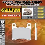 .FD326G1370 PASTIGLIE FRENO GALFER SINTERIZZATE ANTERIORI HONDA CBR 1000 RR FIREBLADE C-ABS 09-