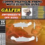 FD319G1397 PASTIGLIE FRENO GALFER SINTERIZZATE ANTERIORI KAWASAKI KVF 650 BRUTE FORCE 4X4 DER. 05-