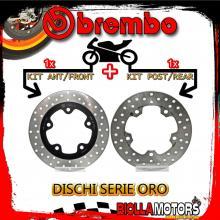 BRDISC-2153 KIT DISCHI FRENO BREMBO SYM JOY MAX EVO 2012- 300CC [ANTERIORE+POSTERIORE] [FISSO/FISSO]