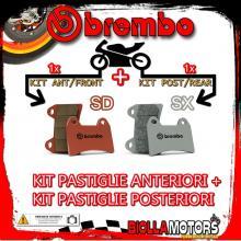 BRPADS-15903 KIT PASTIGLIE FRENO BREMBO ZERO ZF DS 2013- 11.4CC [SD+SX] ANT + POST