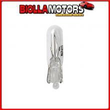 58094 LAMPA 12V LAMPADA CON ZOCCOLO VETRO - T5 - 2W - W2X4,6D - 2 PZ - D/BLISTER