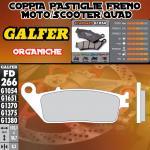 FD266G1054 PASTIGLIE FRENO GALFER ORGANICHE POSTERIORI KYMCO XCITING 250 R 08-