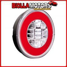 41534 LAMPA O-LED, FANALE ROTONDO POSTERIORE 3 FUNZIONI, 12/24V