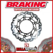 WK112L+WK112R COPPIA DISCHI FRENO ANTERIORE DX + SX BRAKING KTM SM T 990cc 2009-2013 WAVE FLOTTANTE