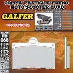 FD068G1054 PASTIGLIE FRENO GALFER ORGANICHE ANTERIORI INDIAN MOTORCYCLE CHIEF BLACKHAWK DARK 11-
