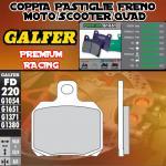 FD220G1651 PASTIGLIE FRENO GALFER PREMIUM POSTERIORI YAMAHA YFA 1B 125 BREEZE (KIT YAMAHA FR.) 91-
