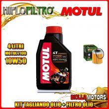 KIT TAGLIANDO 4LT OLIO MOTUL 7100 10W50 KTM 660 Rally E Factory Replica 2nd Oil 660CC 2006-2007 + FILTRO OLIO HF157