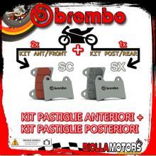 BRPADS-14581 KIT PASTIGLIE FRENO BREMBO KTM SUPERMOTO 2005- 950CC [SC+SX] ANT + POST