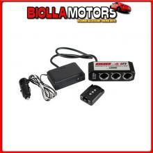 98137 LAMPA DUO-4, PRESA CORRENTE TRIPLA, USB, TELECOMANDO, 24V