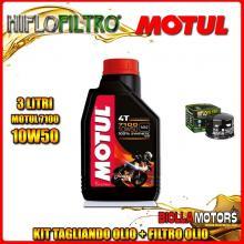 KIT TAGLIANDO 3LT OLIO MOTUL 7100 10W50 GILERA 800 GP / GP Centenario 800CC 2008-2014 + FILTRO OLIO HF565
