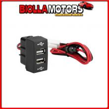 97967 LAMPA ORIGINAL-FIT, DOPPIA PRESA USB, 12/24V - MERCEDES