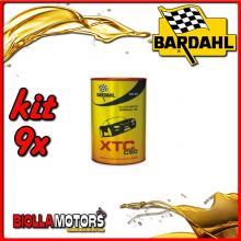 KIT 9X LITRO OLIO BARDAHL XTC C60 5W40 LUBRIFICANTE 4T AUTO 1LT - 9x 334040