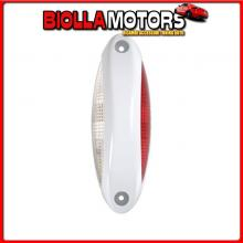 41476 LAMPA LUCE SUPPLEMENTARE A 4 LED BIANCO/ROSSO, 9/32V - SCOCCA BIANCO