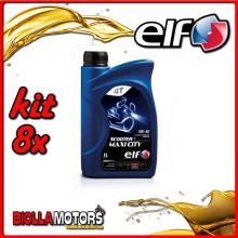 KIT 8X LITRO OLIO ELF SCOOTER 4 MAXI CITY 5W40 - 8x 201740