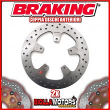 2-RF8128 PAIR FRONT BRAKE DISCS DX + SX BRAKING PEUGEOT GEOPOLIS GT 300cc 2013-2015 FIXED