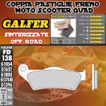 FD138G1396 PASTIGLIE FRENO GALFER SINTERIZZATE ANTERIORI VOR EN 530 01-