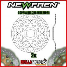 2-DF5205AF COPPIA DISCHI FRENO ANTERIORE NEWFREN HONDA CB 400cc FOUR 1997-1998 FLOTTANTE