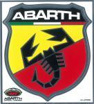 21509 ADESIVO ABARTH SPECIAL STICKERS SCUDETTO GIGANTE 170X190 MM