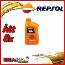 KIT 8X LITRO OLIO REPSOL MOTO TRANSMISIONES 10W40 1LT - 8x RP173X51IT