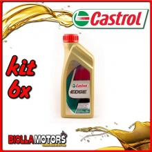KIT 6X LITRO OLIO CASTROL EDGE 0W30 LT1 - 6x EDGE 0W30