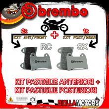BRPADS-13182 KIT PASTIGLIE FRENO BREMBO KTM SUPERMOTO 2005- 950CC [RC+SX] ANT + POST