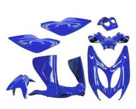 1100097 SET CARENE 7 PEZZI blu metallizzato- Aerox/Nitro