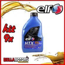 KIT 9X LITRO OLIO ELF HTX 976 +/plus 2T MISCELA - 9x 187005
