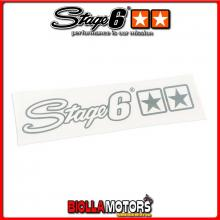 S6-0528/C ADESIVO STAGE 6 ARGENTO 25 X 4,5CM