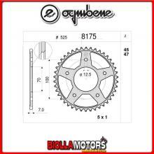368175R47 CORONA TRASMISSIONE 47 PASSO 525 BMW HP 4 2013-2014 1000CC